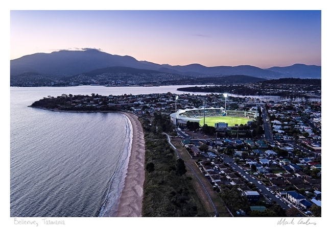 Drone Aerial Bellerive Cricket