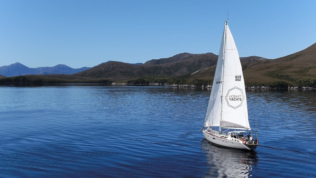 Sailing Helsal Port Davey